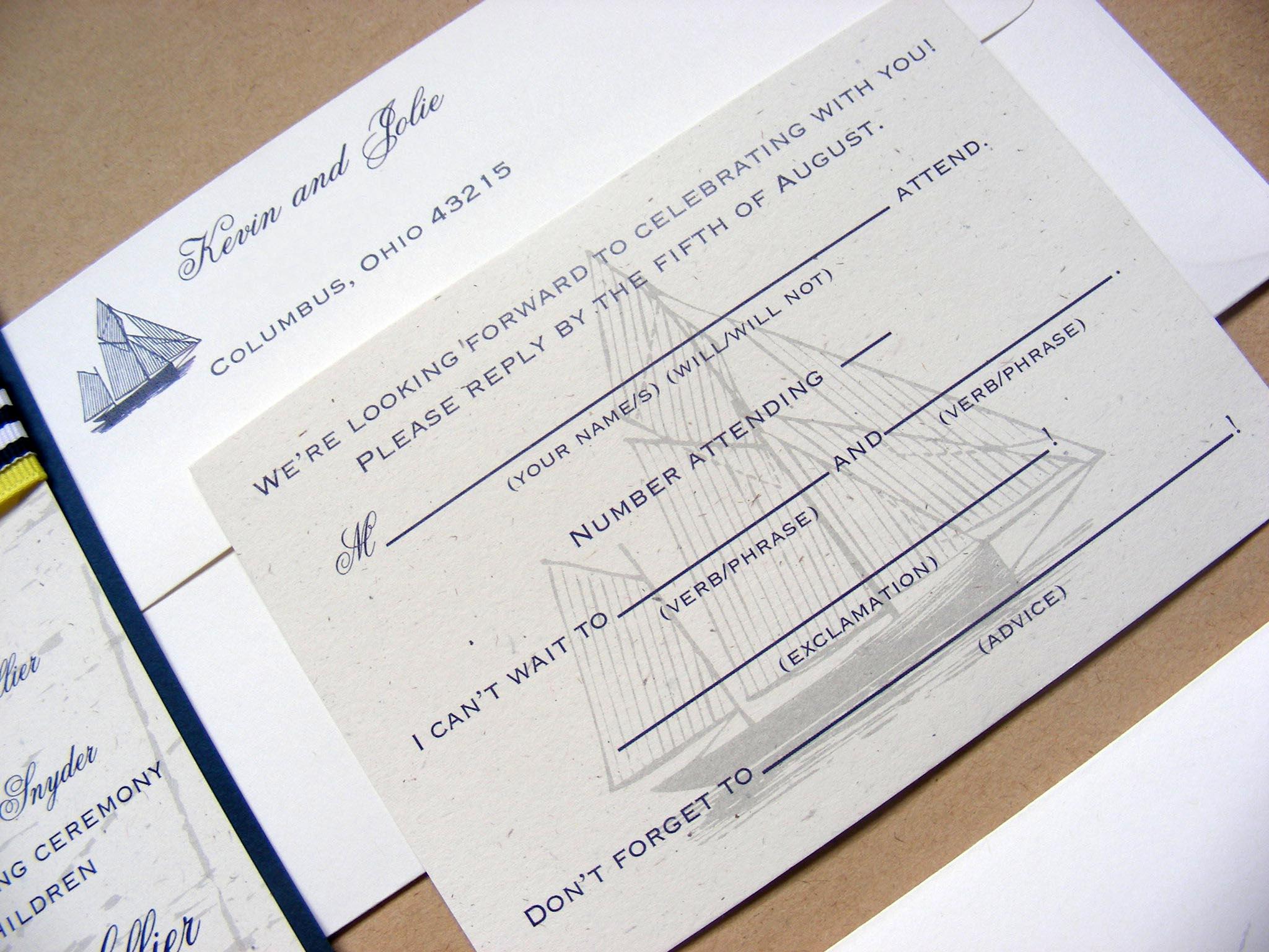 Curiouser and Curiouser: Hilton Head Island, Wedding Invitation