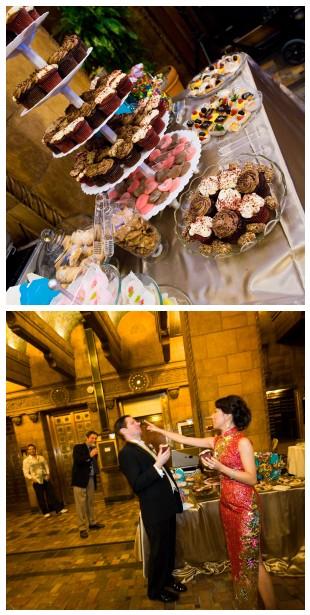Bride groom cupcakes