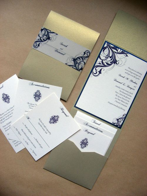 This new handmade wedding invitation set pictured here is actually a