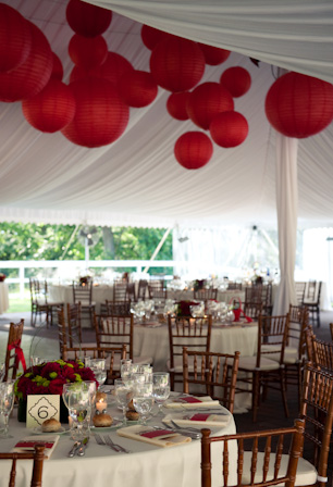 Tent and tables