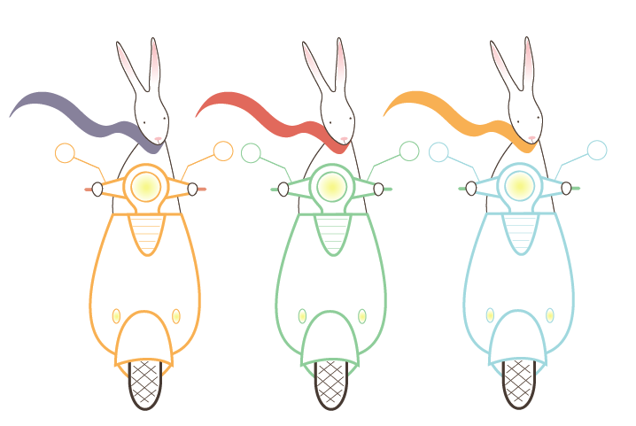 Scooter bunny rally