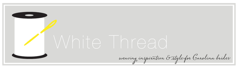 White thread blog header