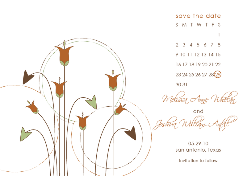 Save the date Jane Marquis Wilson custom wedding gown